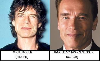 Mick Jagger & Arnold Schwarzenegger