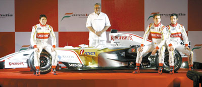 Force India F1 - VJM01 - Image Courtesy Gulf Daily News