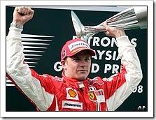 Kimi Triumphs in Malaysia - Image Courtesy BBC Sport/AP