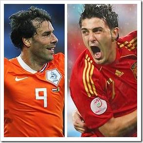 Nistelrooy & Villa - Pix from BBC Sport