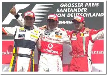 German Grand Prix Podium