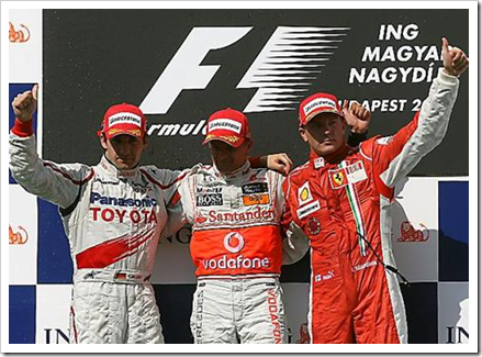 Hungarian Grand Prix Podium