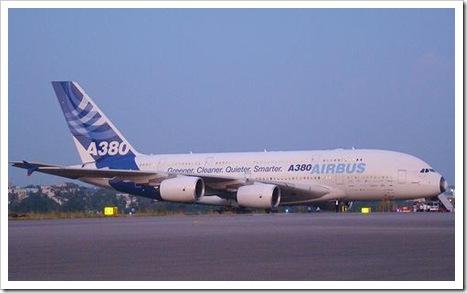 Airbus A380 at Hyderabad