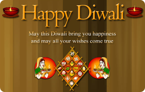 Happy Diwali Wishes Cartoon