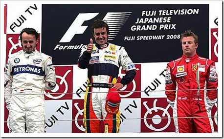 Japanese Grand Prix 2008 Podium