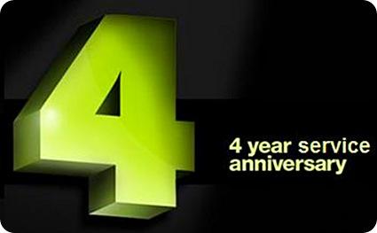 4 Year Service Anniversary