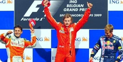Belgian Grand Prix Podium Finishers