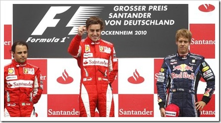 German Grand Prix Podium