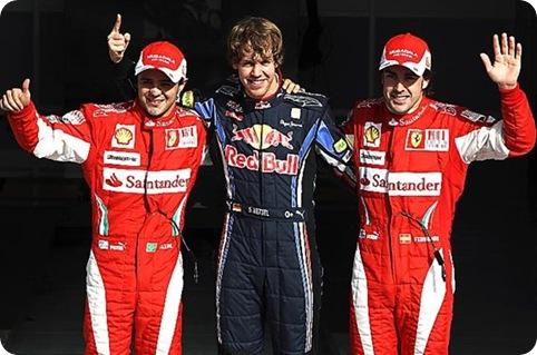 Vettel, Alonso & Massa