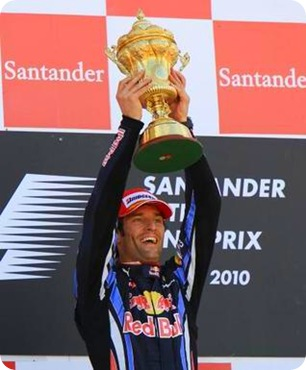 Mark Webber - Winner of Britsih Grand Prix