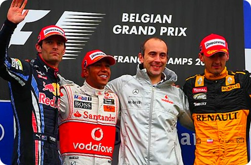 Belgian Grand Prix Podium
