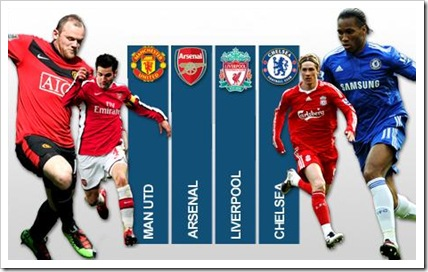 EPL Top Contenders. Pic courtesy BBC Sport