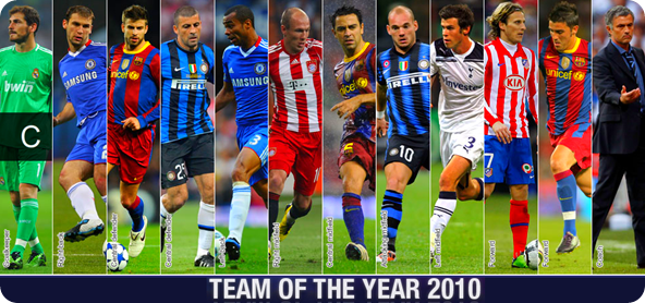 European Football Team Of Year 2010