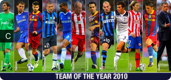 European Football Team Of Year 2010