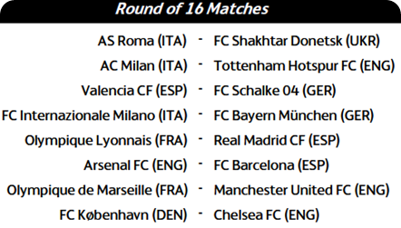 Image Result For Champions League Fixtures