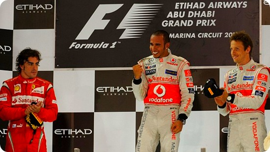 Abu Dhabi Grand Prix - Sunday Podium