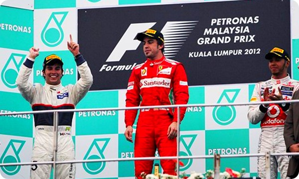 Malaysian GP Podium - Pic from Sutton Images
