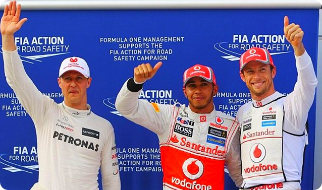Malaysian GP Qualifying Top Three - Image from Getty Images