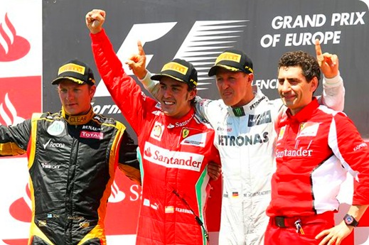 European Grand Prix Podium