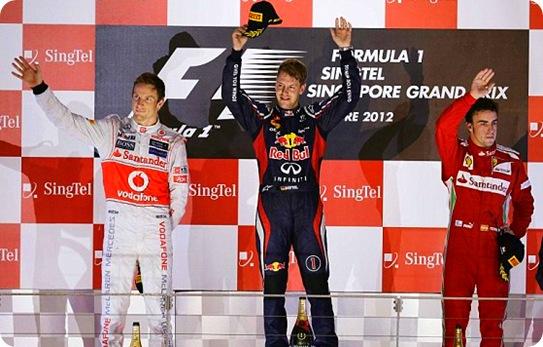 Singapore Grand Prix Podium