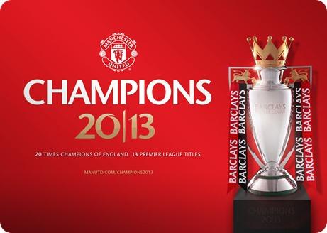 Manchester United Champions 2013